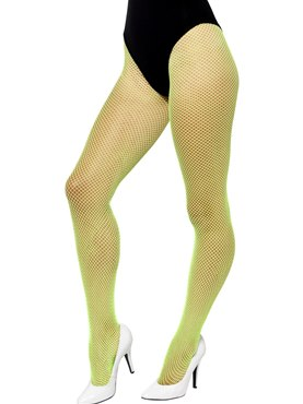 Adult Neon Green Fishnet Tights
