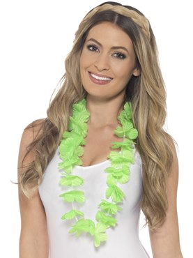 Adult Neon Green Hawaiian Lei