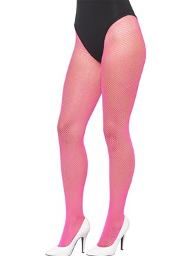 Adult Neon Pink Fishnet Tights