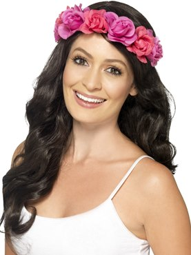 Adult Neon Pink Hawaiian Headband