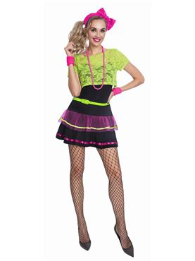 Adult Neon Pop Diva Costume