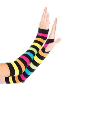 Adult Neon Rainbow Gloves