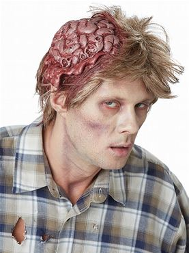 Adult No Brainer Zombie Wig