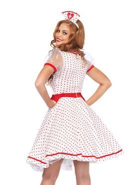 Adult Nurse Nikki/Bedside Betty Costume - Back View