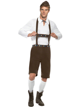Adult Oktoberfest Bavarian Man Costume Couples Costume