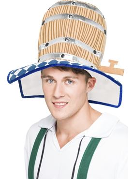 Adult Oktoberfest Beer Barrel Hat