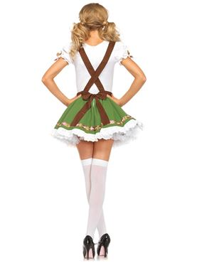 Adult Oktoberfest Sweetie Costume - Back View