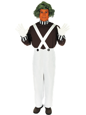 Adult Oompa Loompa Factory Worker Costume with Wig Couples Costume