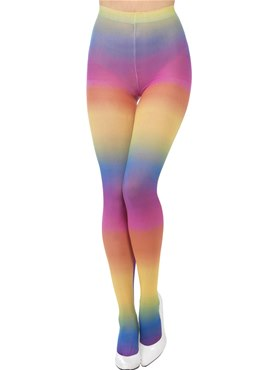 Adult Opaque Rainbow Tights