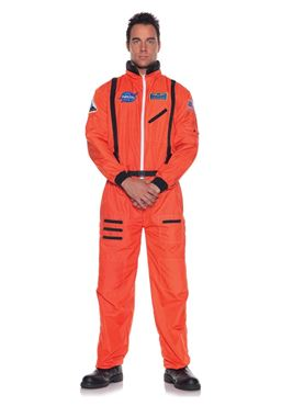 Adult Orange Astronaut Costume