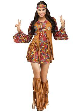 Adult Peace & Love Hippie Costume