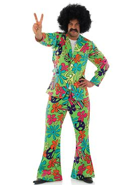 Adult Peace Hippie Suit Costume Thumbnail