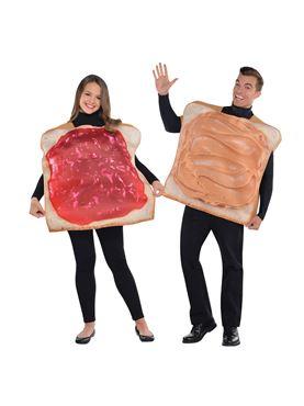 Adult Peanut Butter & Jam Couples Costume
