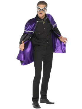 Adult Phantom Masquerade Vampire Cape Couples Costume
