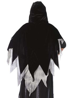 Adult Phantom Velvet Cape - Back View
