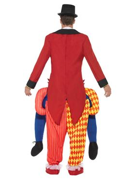 Adult Piggy Back Clown Costume - Side View