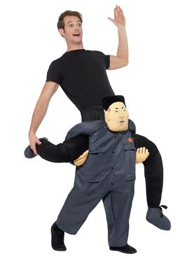 Adult Piggy Back Dictator Costume - Side View
