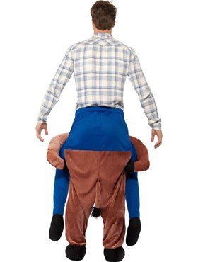 Adult Piggy Back Horse Costume - Side View