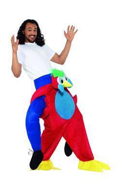 Adult Piggy Back Parrot Costume - Back View