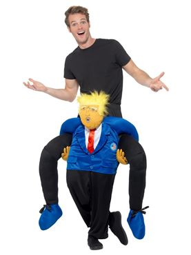 Adult Piggy Back President Costume - Side View
