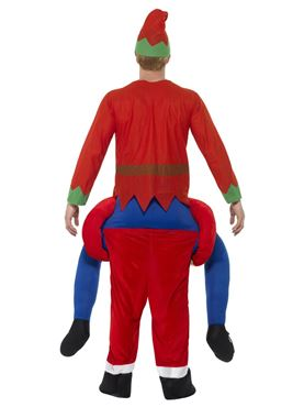 Adult Piggy Back Santa Costume - Side View