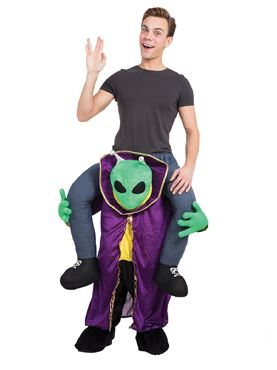 Adult Piggy Back Alien Costume