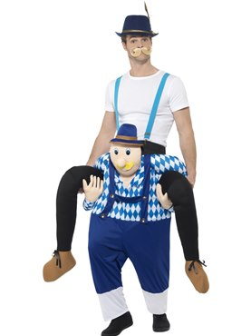 Adult Piggy Back Bavarian Costume Couples Costume