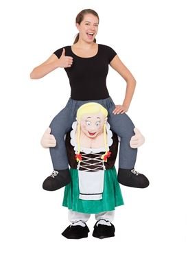 Adult Piggy Back Bavarian Lady Costume