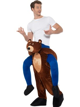Adult Piggy Back Bear Costume - Back View