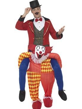 Adult Piggy Back Clown Costume
