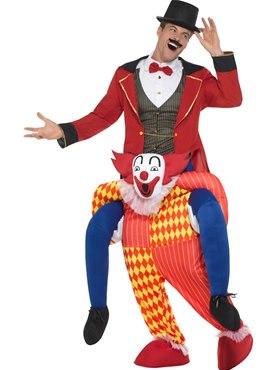 Adult Piggy Back Clown Costume - Back View