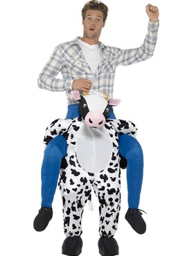 Adult Piggy Back Cow Costume