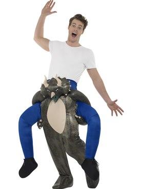 Adult Piggy Back Dinosaur Costume