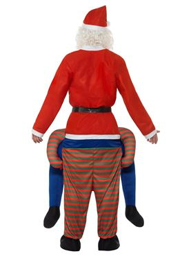 Adult Piggyback Elf Costume - Side View