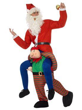 Adult Piggyback Elf Costume - Back View