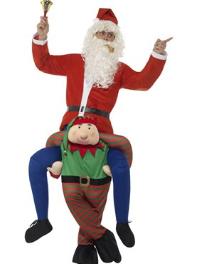 Adult Piggyback Elf Costume Couples Costume