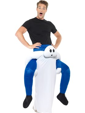 Adult Piggy Back Ghost Costume - Back View