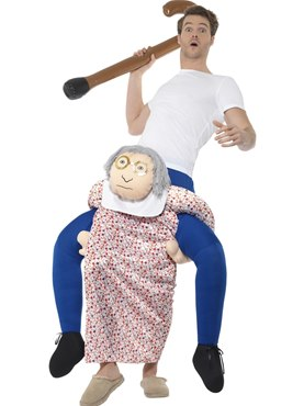 Adult Piggy Back Grandma Costume
