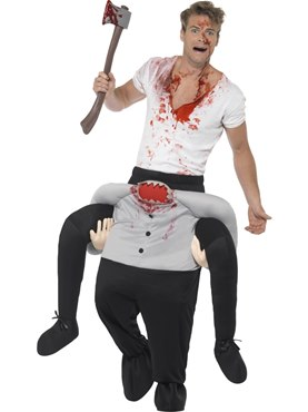 Adult Piggy Back Headless Costume Couples Costume