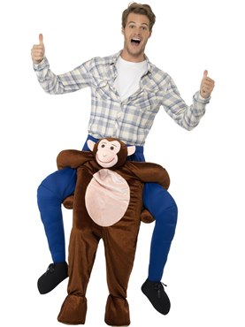 Adult Piggy Back Monkey Costume Couples Costume