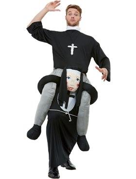 Adult Piggyback Nun Costume
