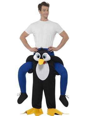 Adult Piggy Back Penguin Costume