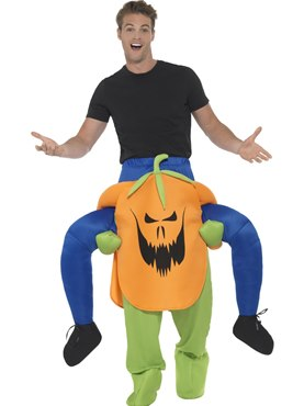 Adult Piggy Back Pumpkin Costume