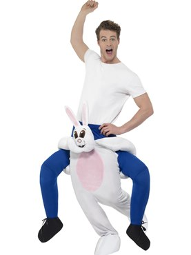 Adult Piggy Back Rabbit Costume