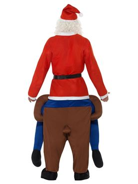 Adult Piggyback Reindeer Rudolf Costume - Side View