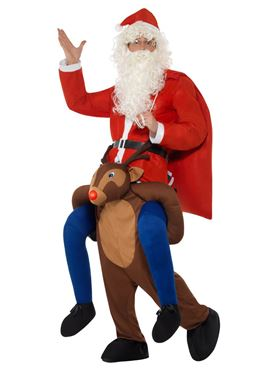 Adult Piggyback Reindeer Rudolf Costume - Back View