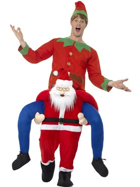 Adult Piggy Back Santa Costume