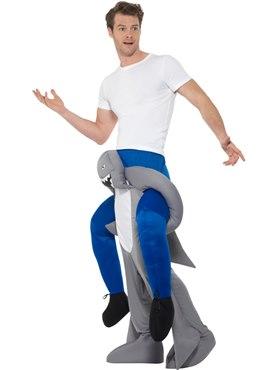 Adult Piggy Back Shark Costume - Back View