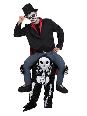 Adult Piggy Back Skeleton Costume Couples Costume