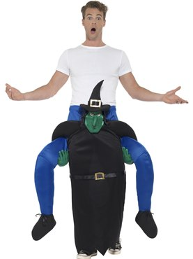 Adult Piggy Back Witch Costume Couples Costume